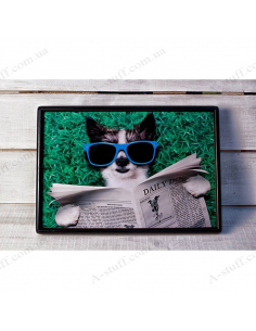 """Tray on a pillow laptop / breakfast """"Morning with Daily Dog"""""""