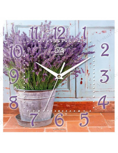 """Wall clock """"Lavender in the bucket"""""""