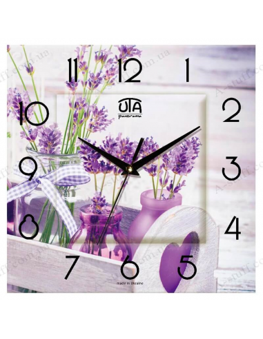 """Wall clock """"Lavender bouquets"""""""