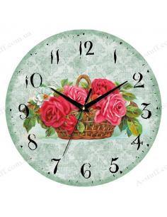 "Clock for wall ""Summer Bouquet"""