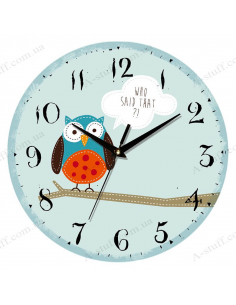 """Clock for wall """"Owl Who said that ?!"""""""