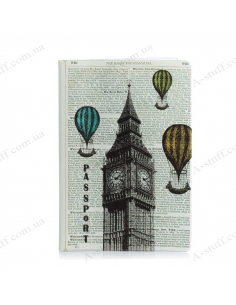 "Cover on the passport ""London - Paris"""