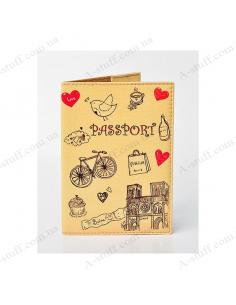 """Обкладинка на паспорт екошкіра """"Паризькі мрії"""""""