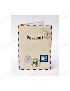 "Cover on the passport eco-leather ""Letter Post"""