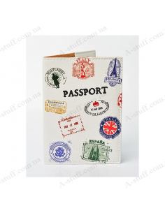 "Cover on the passport eco-leather ""Passport stamp"""