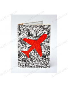 """Cover on the passport eco-leather """"Aircraft"""""""
