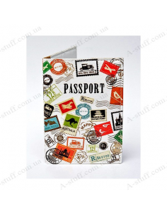 "Cover on the passport eco-leather ""Great trip"""