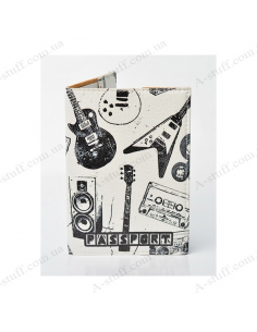 """Cover on the passport eco-leather """"Musician passport"""""""
