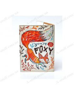 "Cover on the passport eco-leather ""You're so foxy"""