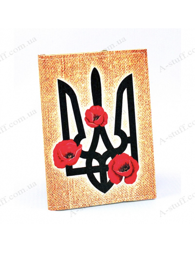 """Card holder of eco-leather """"The Coat Of Arms and flowers"""""""