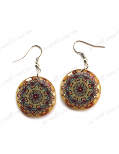 "Earrings ""Gold pattern"""