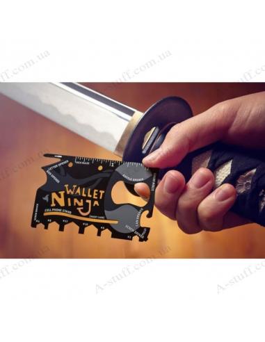 Wallet Ninja 18in1 Multi-Tool Card Pocket Size Screwdriver Bottle Opener Gift