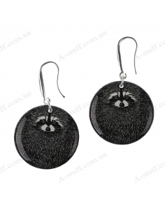 "Earrings ""Raccoon"""
