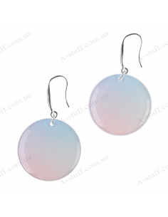 "Earrings ""Rose Quartz and serenity"""