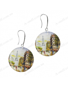 "Earrings round ""Paris"""