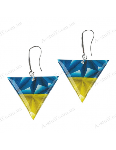 "Earrings ""Flag Triangles"""
