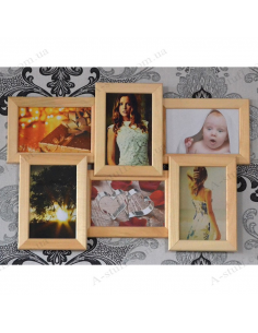 "Multiframe wooden for 6 photo ""Classic 6"""