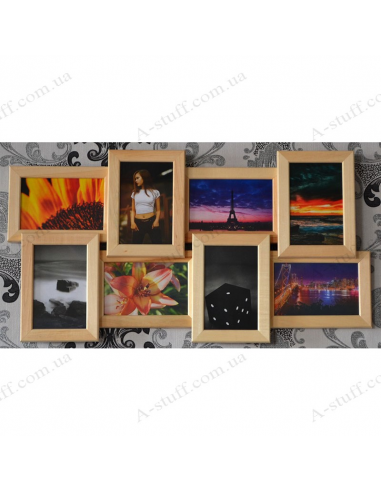 """Multiframe wooden for 8 Photos """"History"""""""