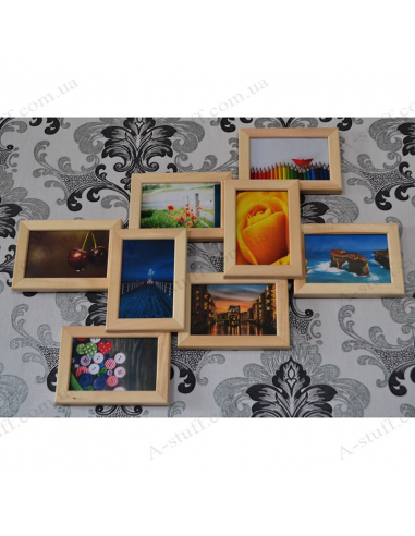 """Multiframe wooden for 8 Photos """"Dream"""""""
