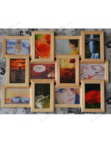 """Multiframe wooden for 12 Photos """"Classic 12"""""""
