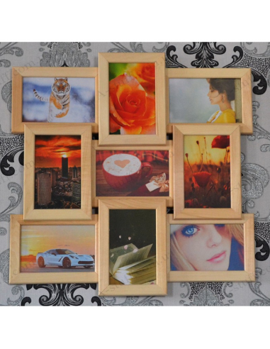 """Multiframe wooden for 9 Photos """"Classic 9"""""""