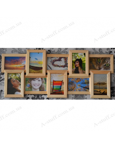 """Multiframe wooden for 10 Photos """"History 10"""""""