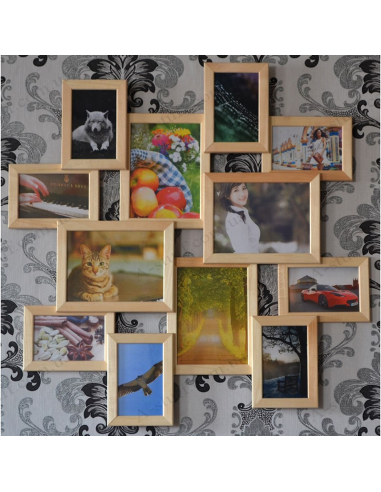 """Multiframe wooden for 12 Photos """"Little journey"""""""
