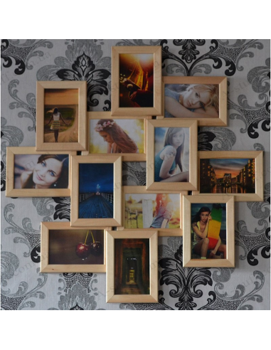"""Multiframe wooden for 12 Photos """"Zigzag"""""""