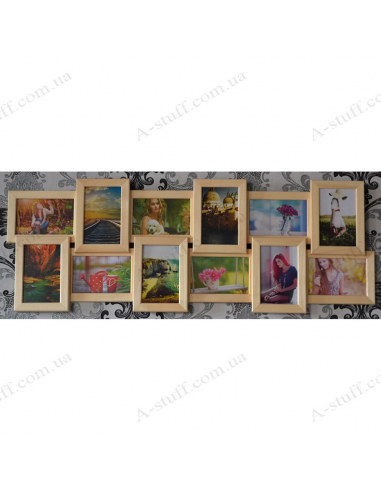 """Multiframe wooden for 12 Photos """"Story 12"""""""