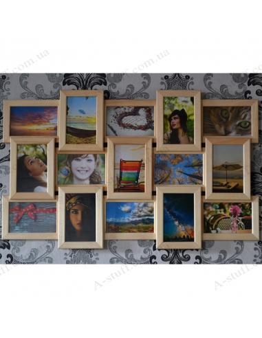 """Multiframe wooden for 15 Photos """"Story 15"""""""