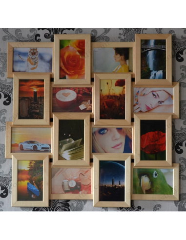 """Multiframe wooden for 16 Photos """"Classic 16"""""""