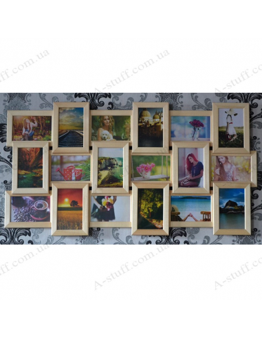"""Multiframe wooden for 18 Photos """"Story 18"""""""