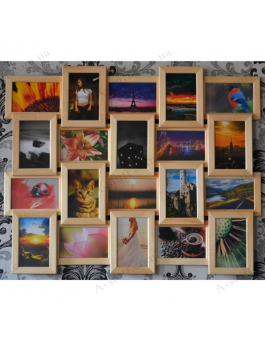 """Multiframe wooden for 20 Photos """"Classic 20"""""""