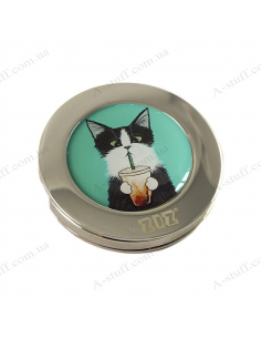 "Handbag hanger ""Cat with a glass"""