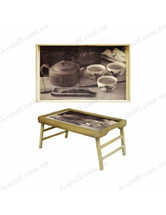 """Table - tray for breakfast """"Tea Party"""""""