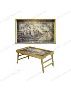 """Table - tray for breakfast """"Ship, Sea adventures"""""""