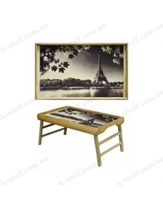 "Table - tray for breakfast ""Eiffel Tower"""