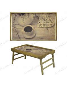"""Table - tray for breakfast """"Love and Coffee"""""""