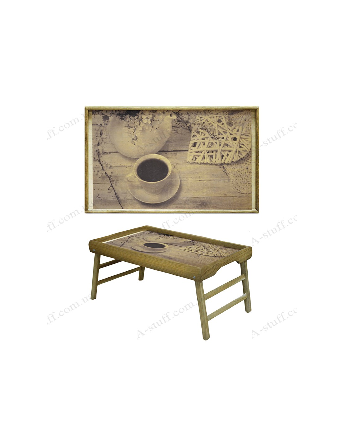 "Coffee Table Tray Home Goods: A Tray On The Legs ""Love And Coffee"""