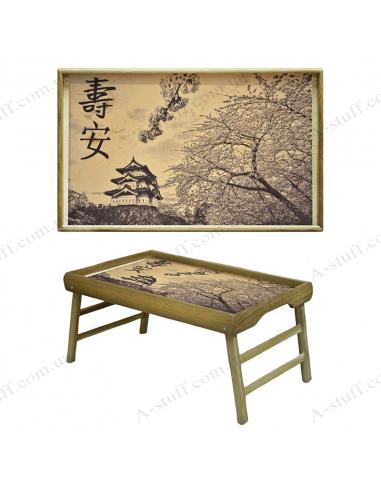 """Столик - таця для сніданку """"Японський сад"""""""
