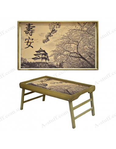 "Table - tray for breakfast ""Japanese garden"""