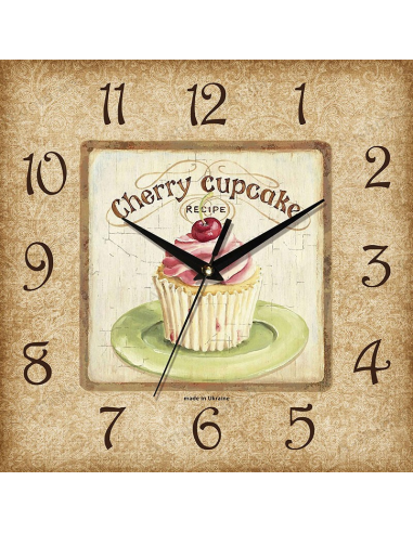 "Wall clock ""Cherry Cupcake"""