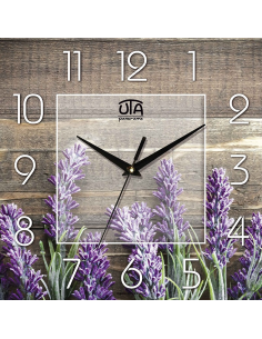 """Wall clock """"Lavender on a background of a tree"""""""