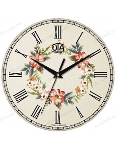 "Clock for wall ""Flower wreath"""