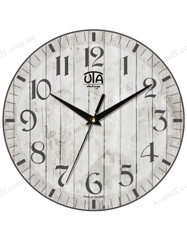 """Годинник настінний """"Сірі дошки"""""""