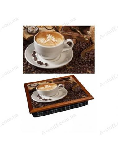 """Таця на подушці для ноутбука / сніданку """"Зернова кава"""""""
