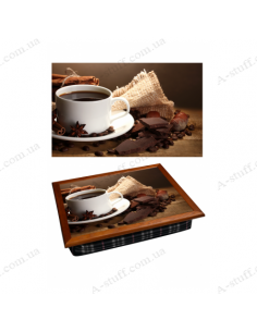 "Tray on a pillow laptop / breakfast ""Coffee, anise and chocolate"""