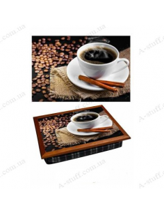 "Tray on a pillow laptop / breakfast ""Coffee and cinnamon"""