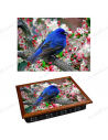 "Tray on a pillow laptop / breakfast ""Blue Bird"""