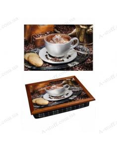 "Tray on a pillow laptop / breakfast ""Coffee 2"""